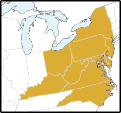 Mid atlantic map